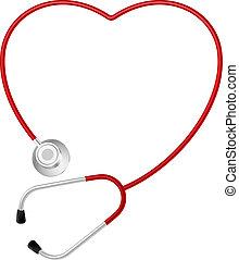 Stethoskop-Herzsymbol