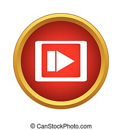 stil, einfache , film, spieler, video, medien, ikone