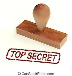 Streng geheimer Gummistempel zeigt geheime Korrespondenz