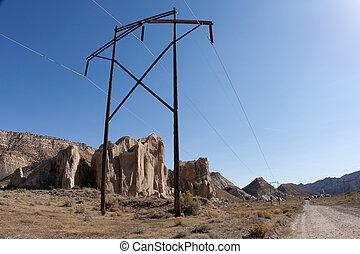 Stromleitung auf der Baumwolle
