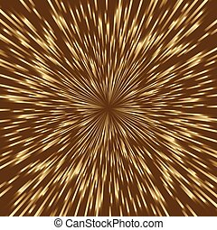 Stylisiertes goldenes Feuerwerk, Licht platzte in der Mitte des Quadratbildes.