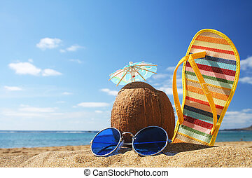 Summer Beach Szene.