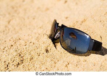 Sunglass refletts Beachschirm