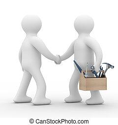 support., service., technisch, bild, freigestellt, linie, 3d