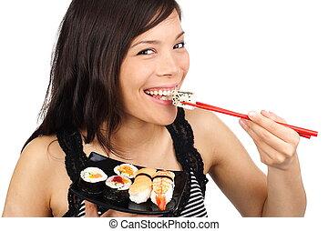 Sushi-Frau