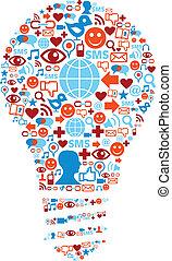 Symbol für soziale Mediennetze