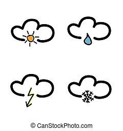 Symbol für Wettervorhersage Vektorgrafik.