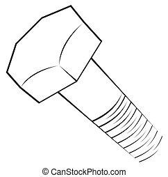 symbol, schraube