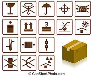 Symbole einpacken