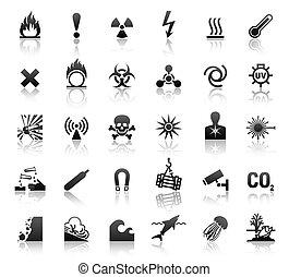symbole, gefahr, schwarz, heiligenbilder