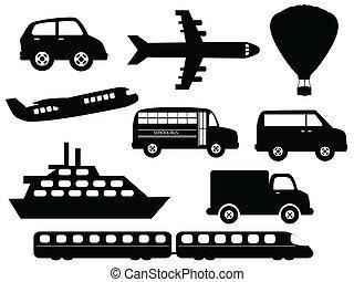 symbole, transport