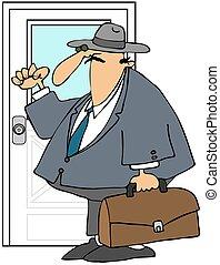 Tür-zu-Tür-Verkäufer