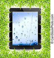 Tablet PC, isoliert im Hintergrund weiß