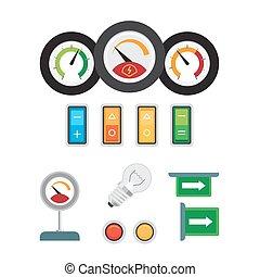 Tachometr, Tachometer und Treibstoffsensor