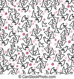 tag, illustration., seamless, vektor, pattern., glücklich, valentines