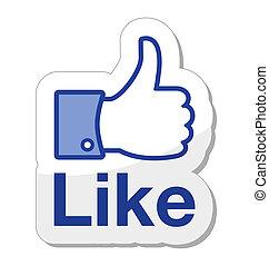 taste, facebook, ihm, mögen