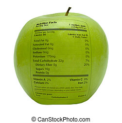tatsachen, ernährung, grüner apfel