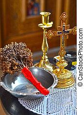 taufe, details, orthodox