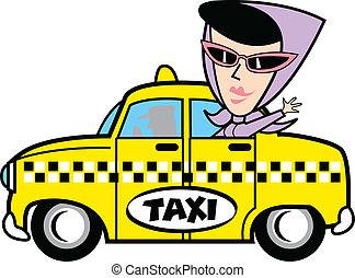 taxifahrzeuge, m�dchen, kunst, klammer