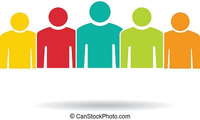 Team 5. Eine Gruppe von Leuten
