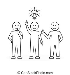 Team, Arbeit, Idee.