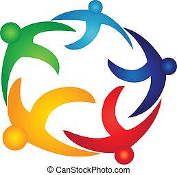 Teamwork Global People Logovektor