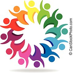 Teamwork Group of people logo.