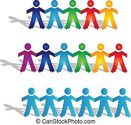 Teamwork-Gruppen von Menschen-Logo