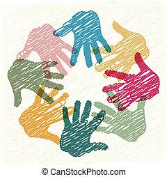 Teamwork-Hände