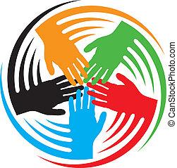 Teamwork Hand Icon.