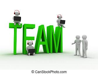 Teamwork Konzept.