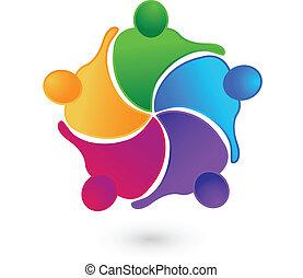 Teamwork-Konzepte Logo.