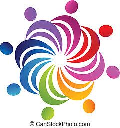 Teamwork Social-Figuren-Logo