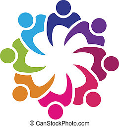 Teamwork Swooshes Logo Vektor.