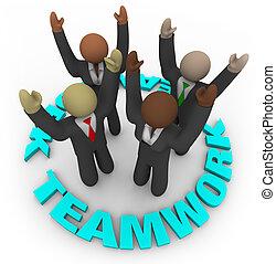 Teamwork - Teammitglieder im Kreis