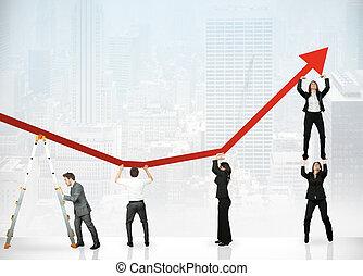 Teamwork und Unternehmensgewinn