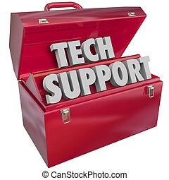 Tech unterstützt Wörter Toolbox Computer-Informationstechnologie helfen.