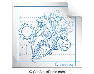Technische Illustration.