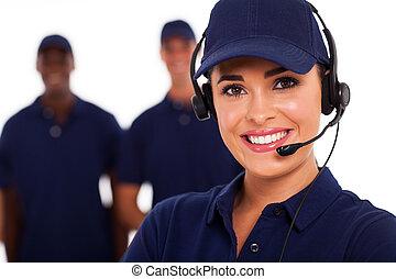 Technischer Support Anrufzentrale.