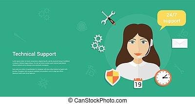 Technisches Support Banner