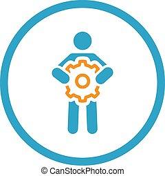 Technisches Support-Icon. Flat Design.