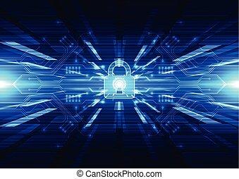 Technologie abstrakter digitaler Backgro.
