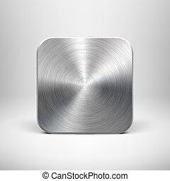 Technologie app icon mit metallischer Struktur fürui