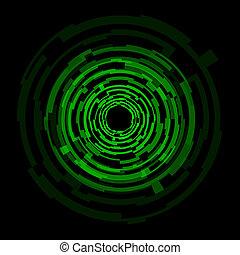 Technologie-Grüne-Kreise zurücknehmen