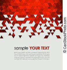Technologie-Hintergrund mit Dreieck