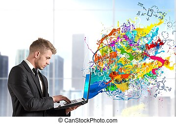 technologie, kreativ