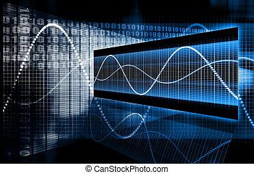 technologie, multimedia, daten