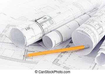 Teil des architektonischen Projekts.