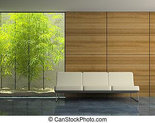 Teil des modernen Innenraums