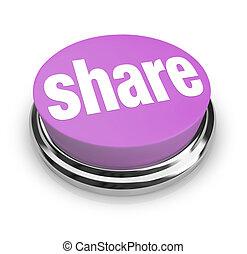 Teilen Sie Wort auf runden Knopf - Großzügigkeit